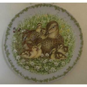 "Royal Copenhagen Annual Series Nature's Children ""The Mallards"" Plate 1995"