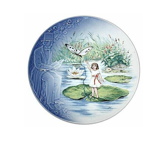 """Royal Copenhagen/Bing & Grondahl / Andersen The Storyteller Plate """"Thumbelina"""""""