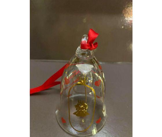 Royal Copenhagen / Holmegaard Glass Christmas Bell 2002