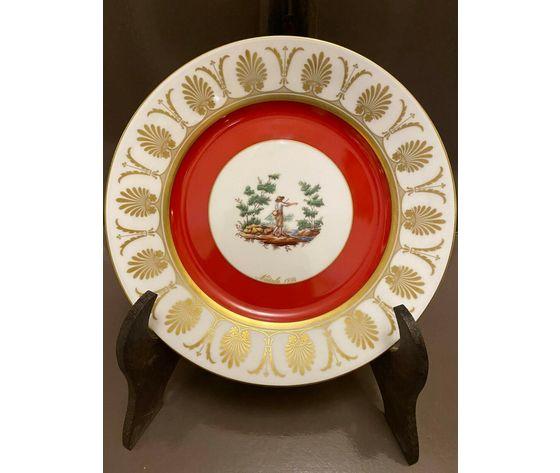 Richard Ginori Piatto Natale 1994 / Porcellana decorata in oro zecchino 24 kt