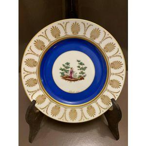 Richard Ginori Piatto Natale 1995 / Porcellana decorata in oro zecchino 24 kt