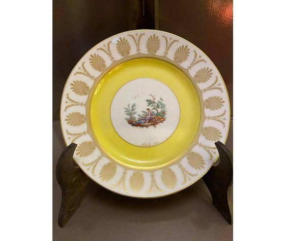 Richard Ginori Piatto Natale 1999 / Porcellana decorata in oro zecchino 24 kt