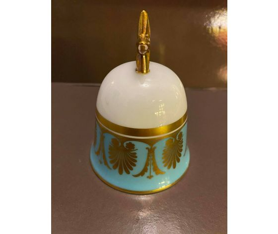 Richard Ginori Campana Azzurra / Light Blue Bell/Porcellana e oro zecchino 24 kt