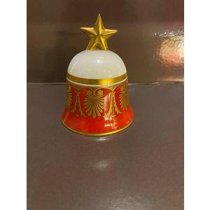Richard Ginori Campana Rossa / Red Bell / Porcellana e oro zecchino 24 kt