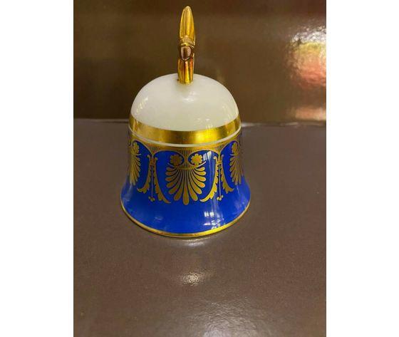 Richard Ginori Campana Blu / Blue Bell / Porcellana e oro zecchino 24 kt
