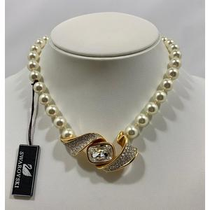 Swarovski Collana perle e swarovski anni '80