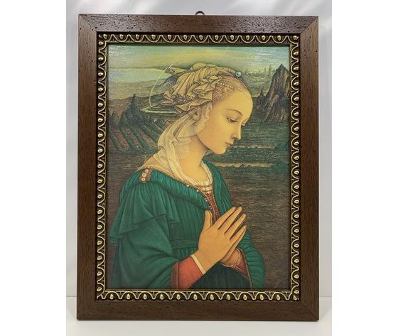 """Quadro / Capezzale: riproduzione """"Madonna"""" di Filippo Lippi"""