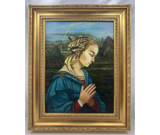 """Quadro / Capezzale dipinto a mano: riproduzione """"Madonna"""" di Filippo Lippi"""
