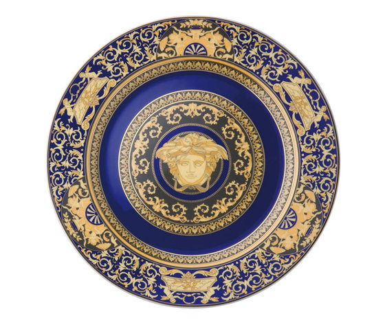 Versace Medusa Blue  Piatto Parte 30 cm