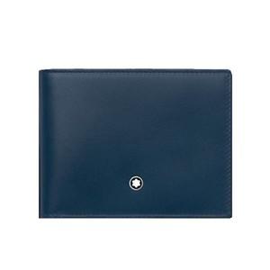 Montblanc Meisterstück Portafoglio blu 4 scomparti e portamonete