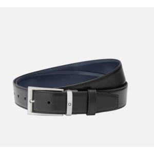 Montblanc Cintura con fibbia ad ardiglione trapezoidale in titanio opaco