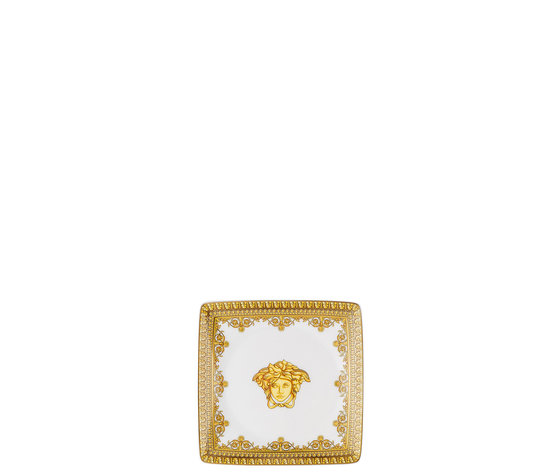 Versace Baroque bianco Coppa quadrata 12 cm