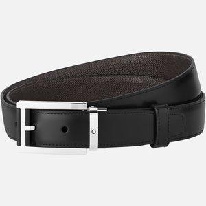 Montblanc cintura reversibile in pelle nera/marrone 30 mm