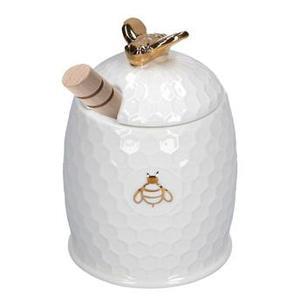 Vasetto miele con servimiele Aperegina oro