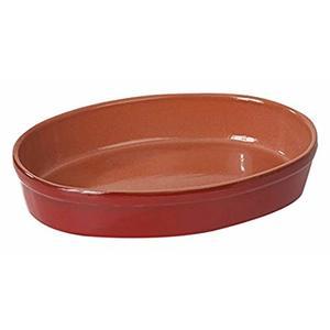 Teglia ovale 25x36 rossa
