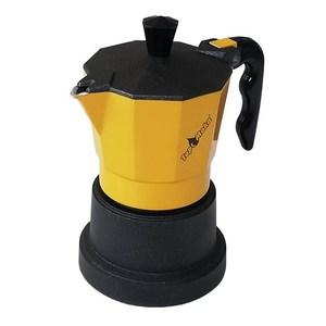 Caffettiera Top Moka 1 tazza gialla