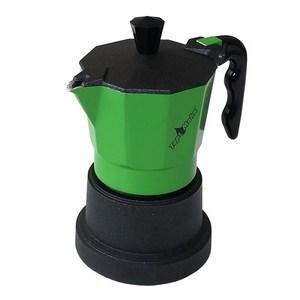 Caffettiera Top moka 3 tazze verde