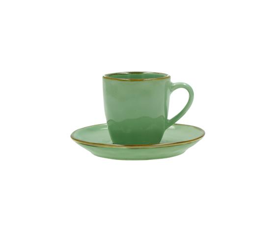 Tazza caffè c/p. Concerto verde acqua 90 cc