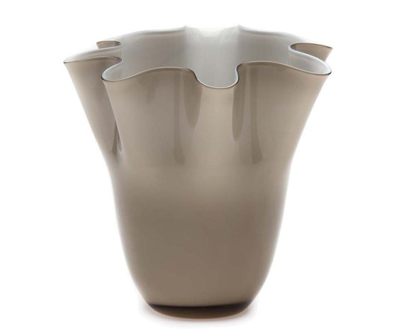 Vaso Vulcano crema cm. 24