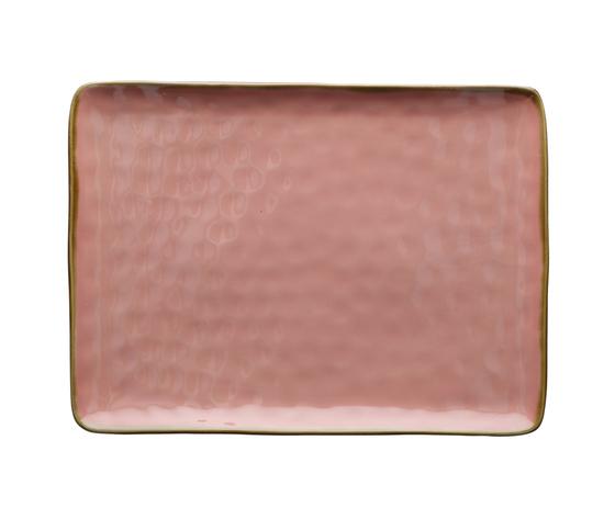 Vassoio rettangolare Concerto rosa antico 36x26,5 cm
