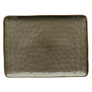 Vassoio rettangolare Concerto grigio tortora 36x26,5 cm