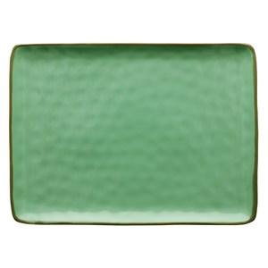 Vassoio rettangolare Concerto verde acqua 36x26,5 cm