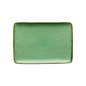 Vassoio rettangolare Concerto verde acqua 27x19 cm
