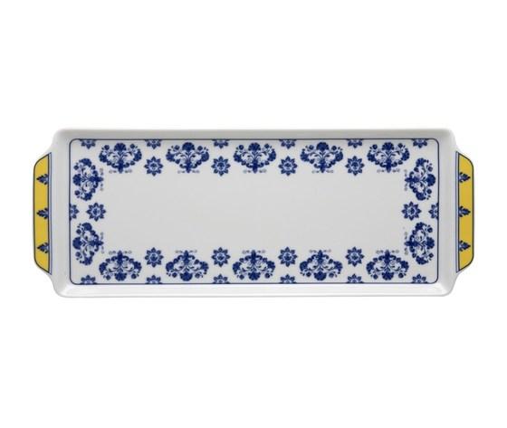 Vassoio rettangolare c.m. Castelo Branco 15,3x39,9 cm