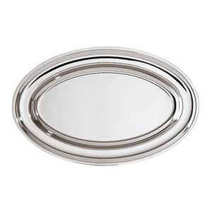 Piatto portata ovale Elite  cm. 54 x 37 acciaio inox