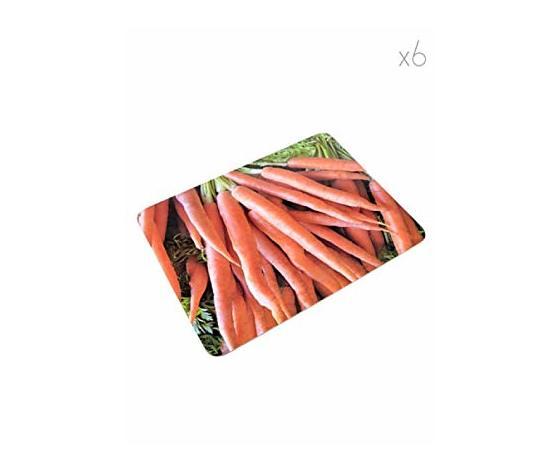 Set 6 tovagliette americane Natur day carote