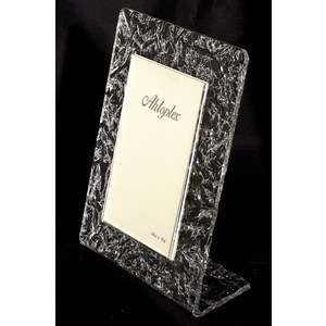 "Portafoto verticale plexiglas ""ice silver"" 10x15"