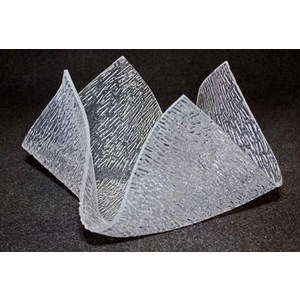 """Centrotavola plexiglas """"fiamma ghiaccio"""""""