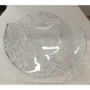 "Centrotavola plexiglas onda bassa ""ice silver"""