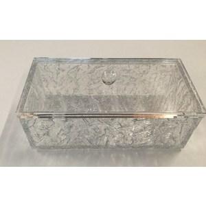 "Cofanetto luxury plexiglas ""ice silver"""
