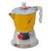 Caffettiera induzione top gialla