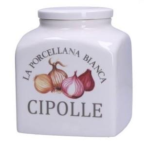 Barattolo decorato porcellana Conserva cipolle