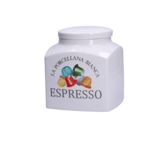 Barattolo decorato porcellana Conserva espresso