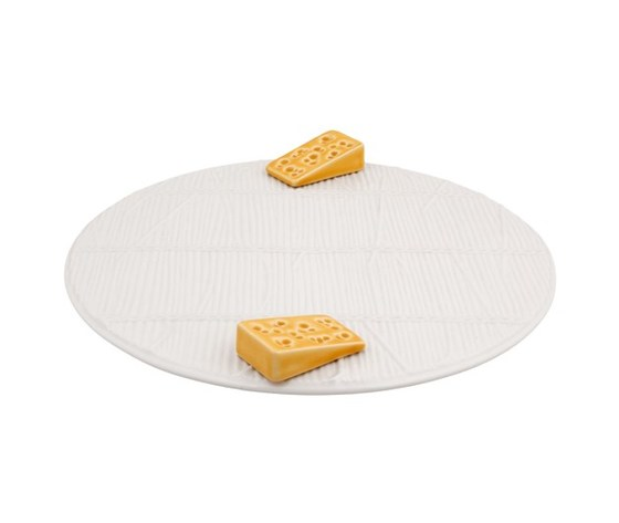 Vassoio per formaggi bianco  Ø 32