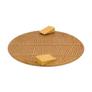 Vassoio per formaggi giallo Ø 32