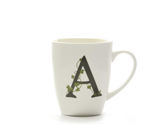 Mug lettera 'A' atupertu