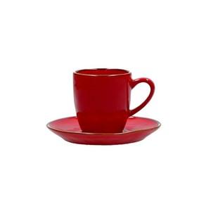 Tazza caffè c/p. Concerto rosso fuoco 90 cc