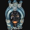 Testa h 40 turbante mono blu maschio moro ceramiche di caltagirone sofia