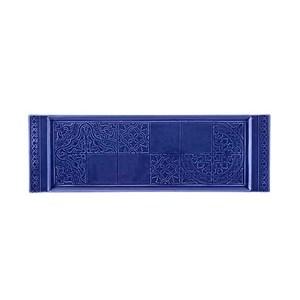 Vassoio rettangolare Rua Nova blu indaco cm. 16,4 x 51