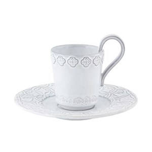 Tazza da caffè e piattino Rua Nova bianco antico