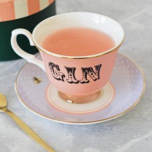 Tazza da tè con piattino Gin