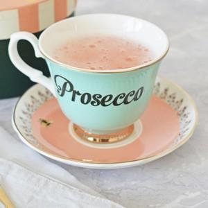 Tazza da tè con piattino Prosecco
