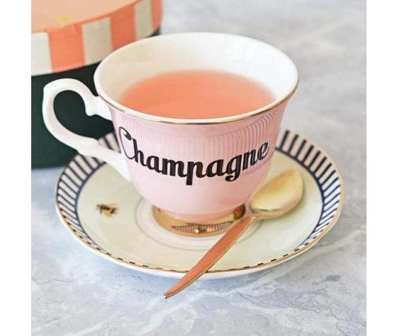 Tazza da tè con piattino Champagne