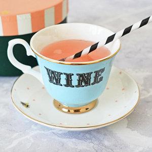 Tazza da tè con piattino Wine