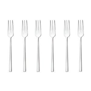 Set 6 forchette dolce Rock acciaio inox