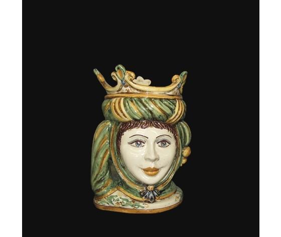 Testa di Moro ( femmina )  verde/arancio h. cm.20